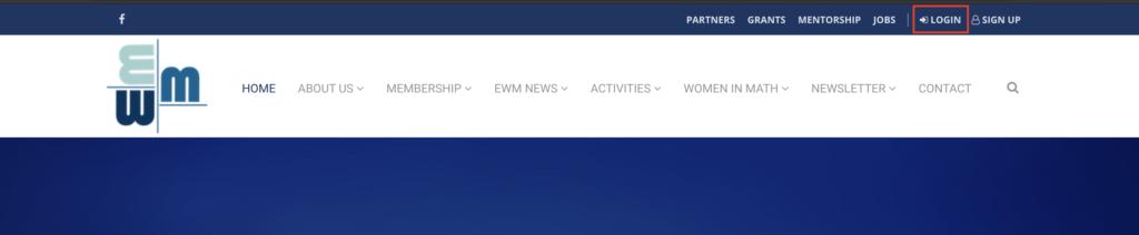EWM member area - Login